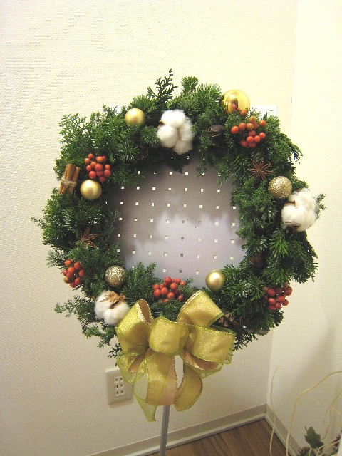 生クリスマスリース_a0091095_2232306.jpg