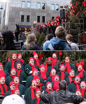 サウス・ストリート・シーポートの歌うクリスマス・ツリー 2010_b0007805_1041878.jpg