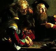 カラヴァッジョ「聖マタイの招命」~ローマ サンルイージ・ディ・フランチェージ教会_f0106597_1115022.jpg