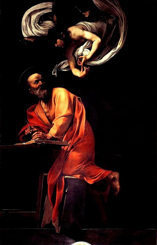絶妙なバランス~カラヴァッジョ作「聖マタイと天使」_f0106597_23134285.jpg
