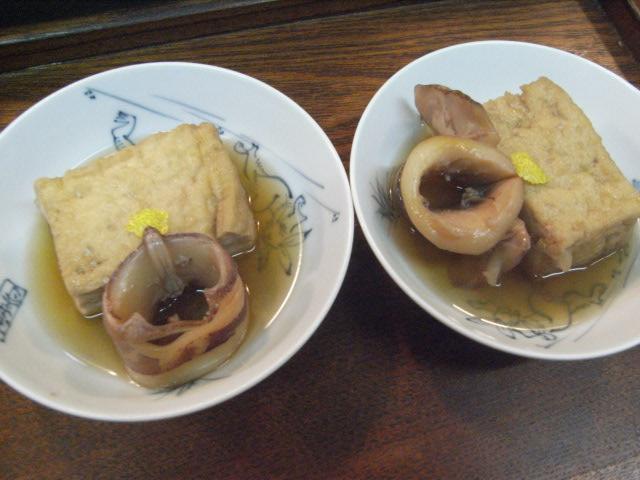 厚揚げ、イカの煮物_e0116211_853127.jpg