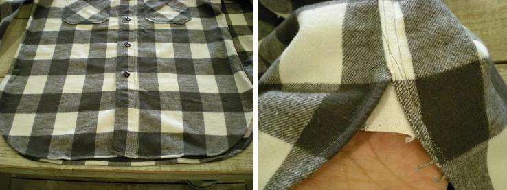 1930\'s Cotton Flannel Shirts mable button_d0160378_16573070.jpg