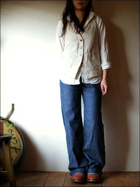 orslow [オアスロウ] chambray shirts [シャンブレーシャツ] Lady\'s WHITE ホワイト 白_f0051306_2050488.jpg
