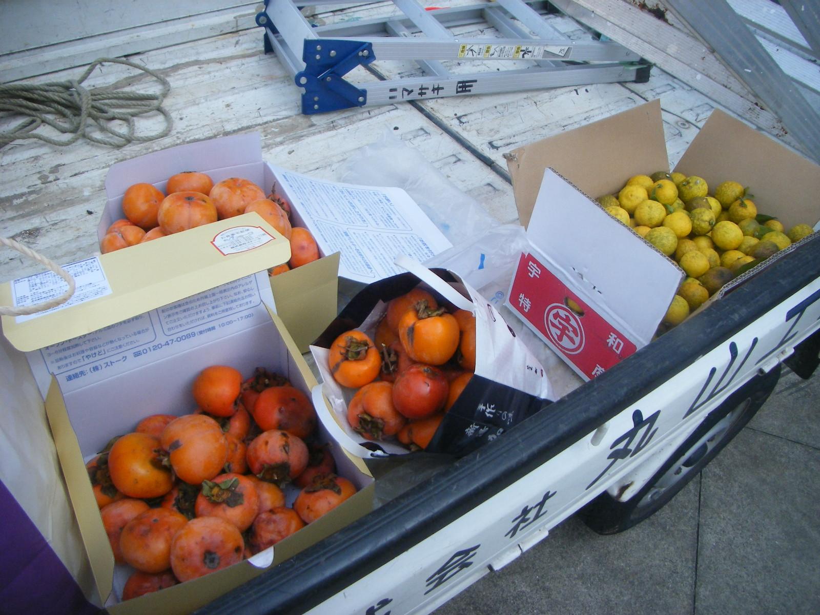 お客様の庭に実った柚子の実 今年は大豊作でした_e0215910_0251262.jpg