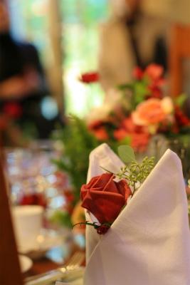 12月、赤い花で飾る一軒家のフレンチ 仏蘭西舎すいぎょく様へ_a0042928_2310179.jpg