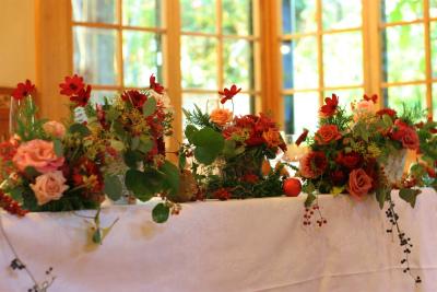 12月、赤い花で飾る一軒家のフレンチ 仏蘭西舎すいぎょく様へ_a0042928_2365945.jpg