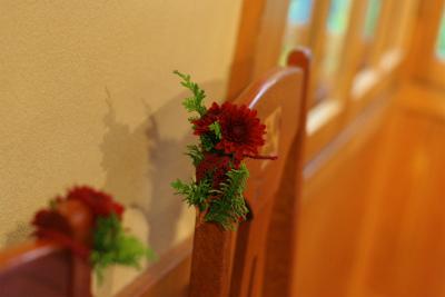 12月、赤い花で飾る一軒家のフレンチ 仏蘭西舎すいぎょく様へ_a0042928_2392863.jpg