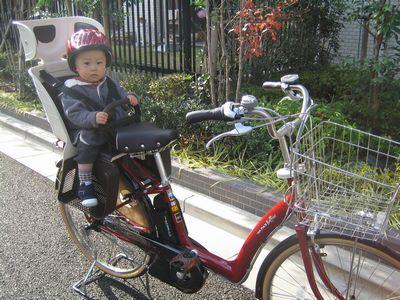 自転車の 1歳 自転車 後ろ : 今日は、親子で初乗り ...