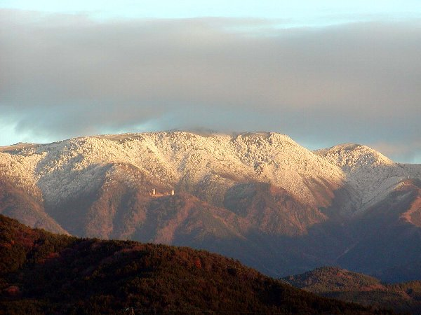夕陽に映える雪化粧_c0057390_22483915.jpg