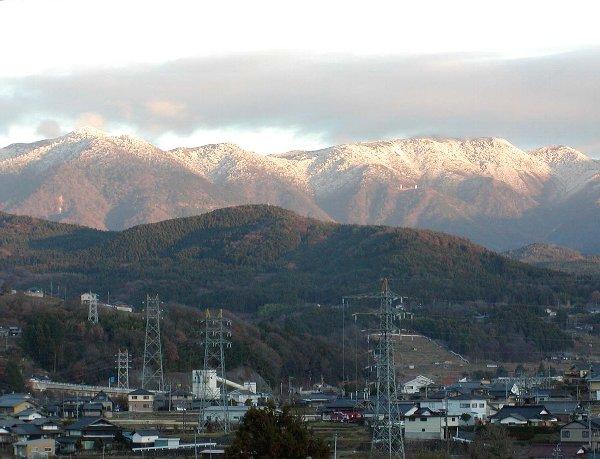 夕陽に映える雪化粧_c0057390_2248578.jpg