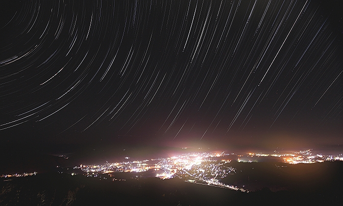 """三次高谷山 """"夜 景と雲 海と 星""""コンポジ編_a0140608_755213.jpg"""