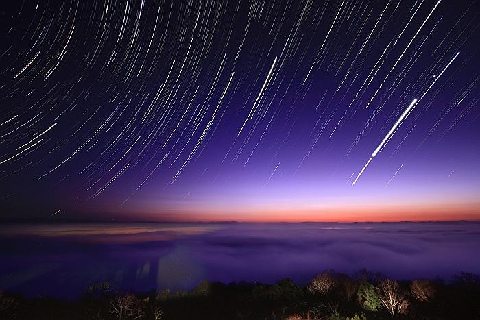"""三次高谷山 """"夜 景と雲 海と 星""""コンポジ編_a0140608_7575670.jpg"""