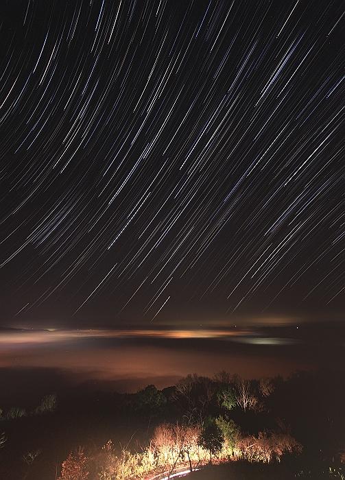 """三次高谷山 """"夜 景と雲 海と 星""""コンポジ編_a0140608_757698.jpg"""