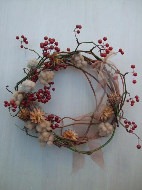 オークリーフ(今年のクリスマスリース)_f0049672_19114547.jpg
