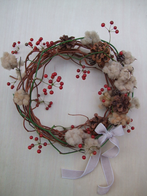 オークリーフ(今年のクリスマスリース)_f0049672_1911592.jpg