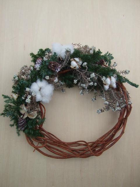 オークリーフ(今年のクリスマスリース)_f0049672_19123081.jpg
