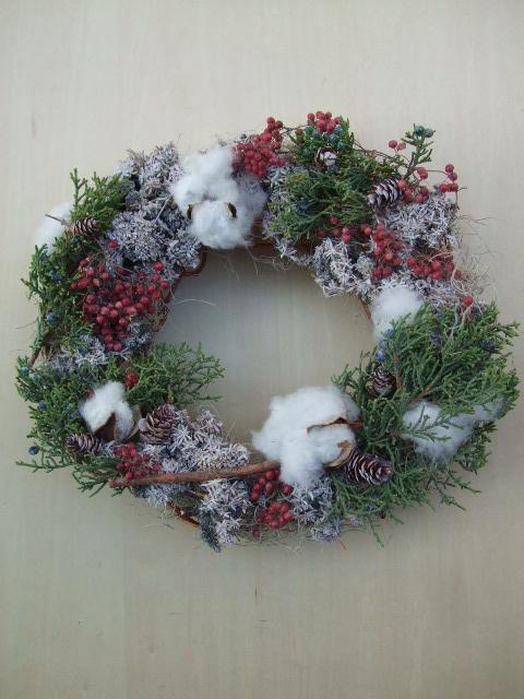 オークリーフ(今年のクリスマスリース)_f0049672_19145288.jpg