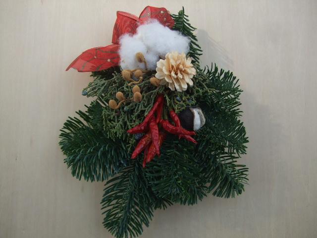 オークリーフ(今年のクリスマスリース)_f0049672_19152158.jpg