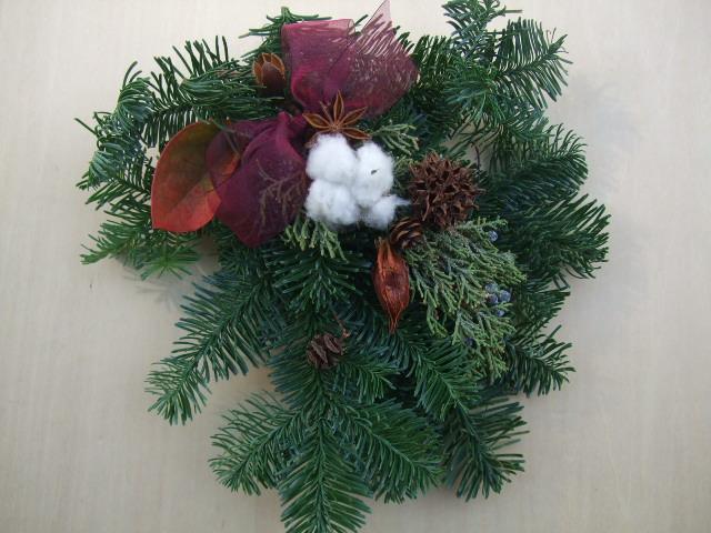 オークリーフ(今年のクリスマスリース)_f0049672_19152824.jpg