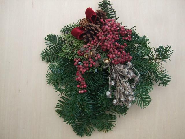 オークリーフ(今年のクリスマスリース)_f0049672_19154239.jpg