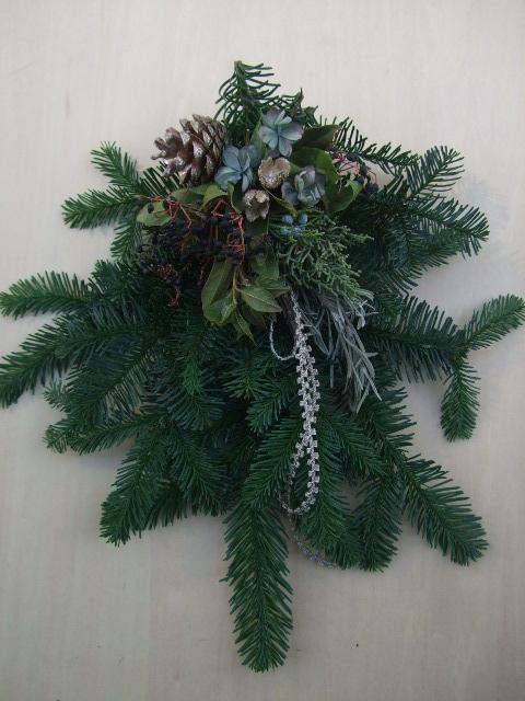オークリーフ(今年のクリスマスリース)_f0049672_19155225.jpg