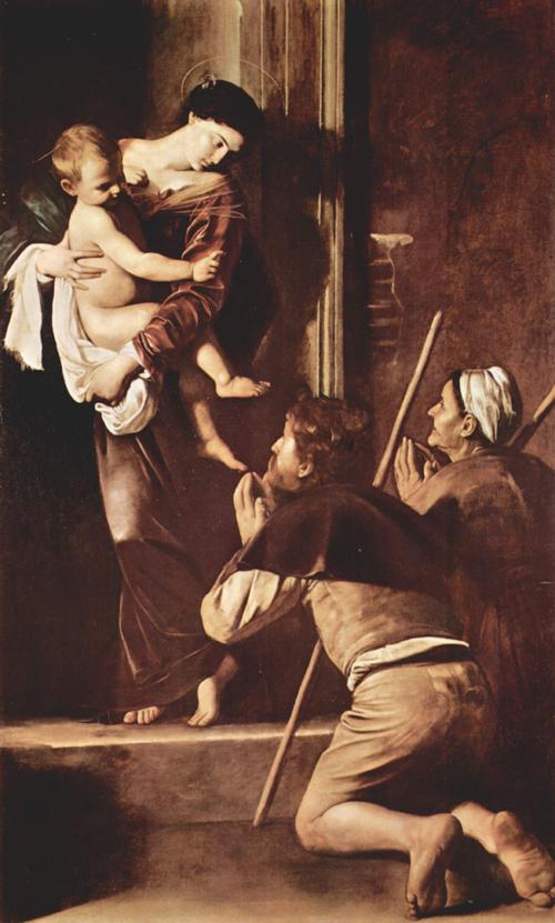 カラヴァッジョ作、巡礼者の聖母~ローマ、サンタゴスティーノ教会_f0106597_18382793.jpg