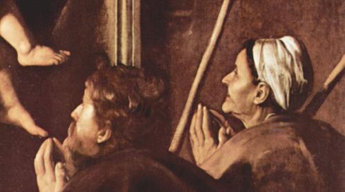 カラヴァッジョ作、巡礼者の聖母~ローマ、サンタゴスティーノ教会_f0106597_18404590.jpg