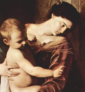 カラヴァッジョ作、巡礼者の聖母~ローマ、サンタゴスティーノ教会_f0106597_192884.jpg