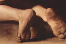カラヴァッジョ作、巡礼者の聖母~ローマ、サンタゴスティーノ教会_f0106597_1930957.jpg