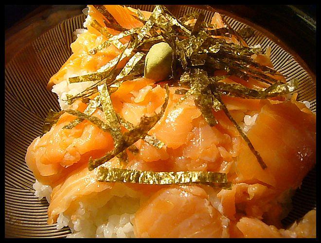 【ウチ料理】Chutes de saumon fumeでサーモン丼(PARIS)_a0014299_21394729.jpg