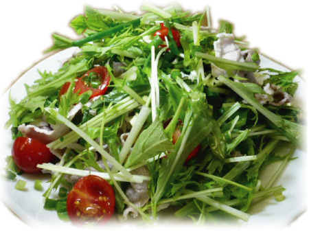 【バルサミコレシピ】 豚しゃぶと水菜のサラダ_f0214716_1805352.jpg