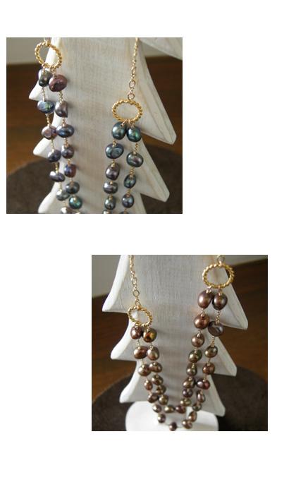 LUZ Navy Pearl Necklace / Choco Pearl Necklace_a0130646_18503559.jpg