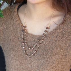 LUZ Navy Pearl Necklace / Choco Pearl Necklace_a0130646_1850636.jpg