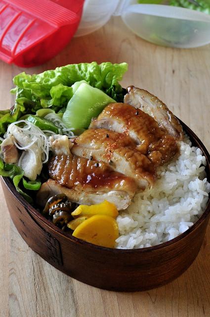 ルクエで作れる「鶏の照り焼き弁当」_b0171098_7111851.jpg