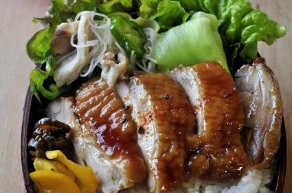 ルクエで作れる「鶏の照り焼き弁当」_b0171098_7173576.jpg