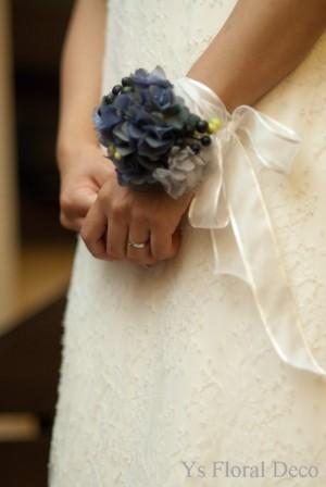 ブルーの花冠とリストレット プリザーブドフラワー_b0113510_23374370.jpg