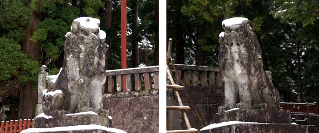 岩木山神社 柱に戯れる狛犬など_a0136293_1034352.jpg