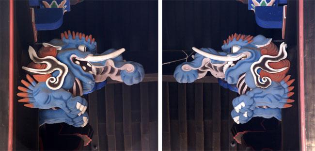 岩木山神社 柱に戯れる狛犬など_a0136293_1155798.jpg