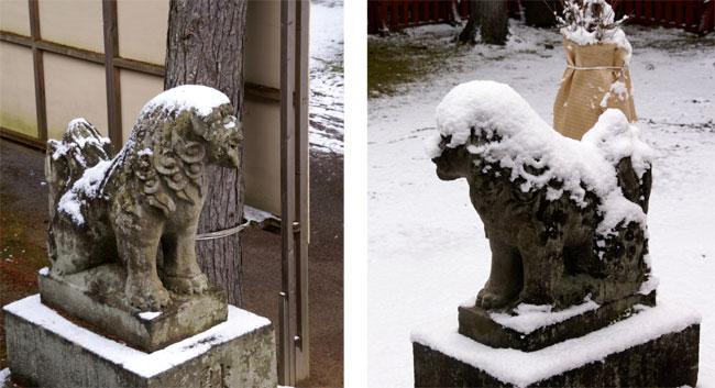 岩木山神社 柱に戯れる狛犬など_a0136293_1161487.jpg