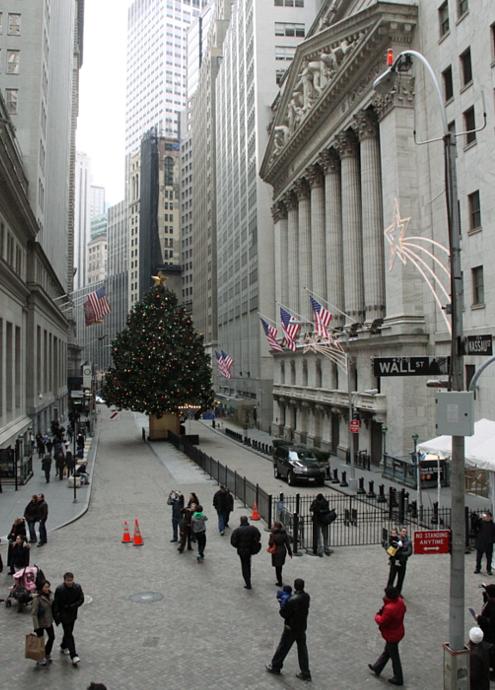 ウォールストリートのクリスマスツリー 2010_b0007805_22294799.jpg