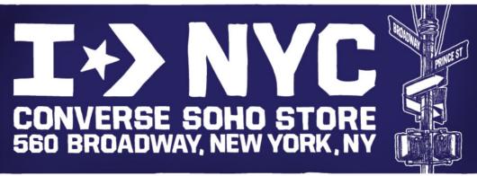 ニューヨークのSoHoにコンバース(Converse)の常設特別店がオープン!!!_b0007805_2552620.jpg