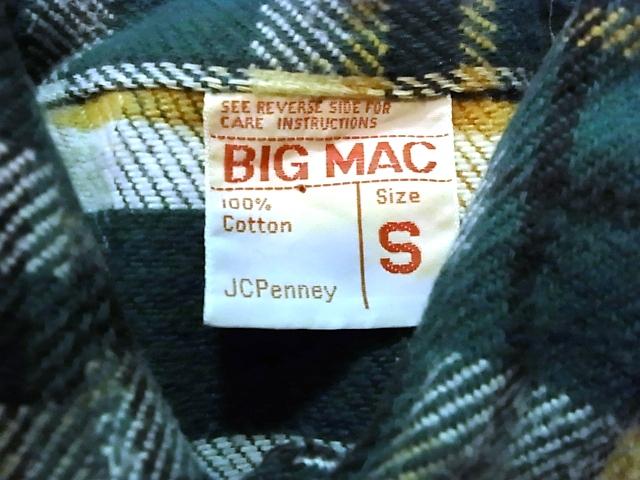 アメリカ仕入れ情報#32 BIGMAC ネルシャツ_c0144020_12182180.jpg