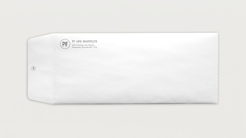 WORKS|Envelope of PF Life Institute_e0206124_17163497.jpg