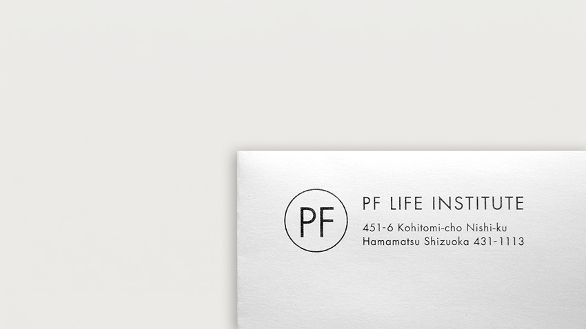 WORKS|Envelope of PF Life Institute_e0206124_17163960.jpg