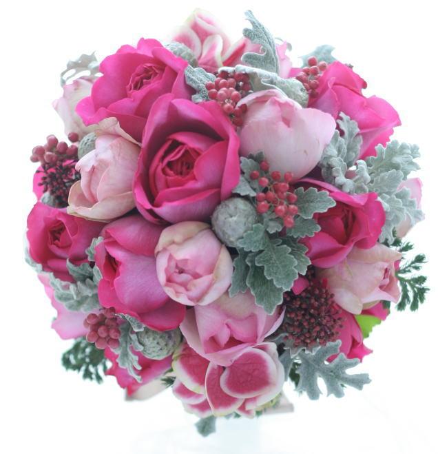 冬のピンクのブーケ イブピアッチェという花  _a0042928_185916.jpg