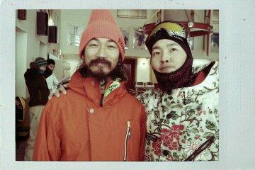 雪 極寒 オレンジの人_e0173533_175578.jpg