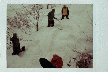 雪 極寒 オレンジの人_e0173533_1863852.jpg