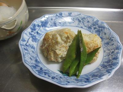 鶏挽肉バ-グ、鯛と大根♪_f0116812_9174785.jpg