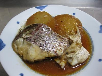 鶏挽肉バ-グ、鯛と大根♪_f0116812_919450.jpg