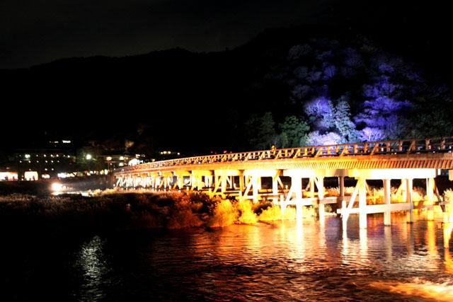 京都・嵐山花灯路1 渡月橋あたり_e0048413_14313172.jpg